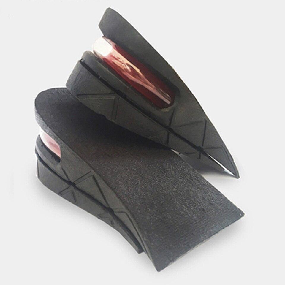 Eid 2-camada 4.5 cm altura aumento palmilha design ergonômico ajustável almofada de ar invisível almofadas de elevação solas para sapatos masculinos