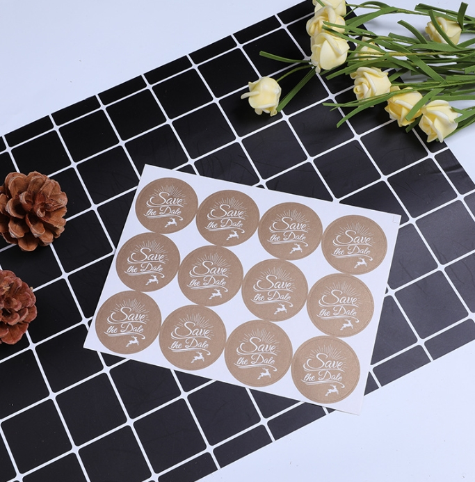120pcs/10sheets Save The Date Wedding Welcome Confetti Stickers, Invitations Envelope Seals Favor Labels Birthday Gift Stickers