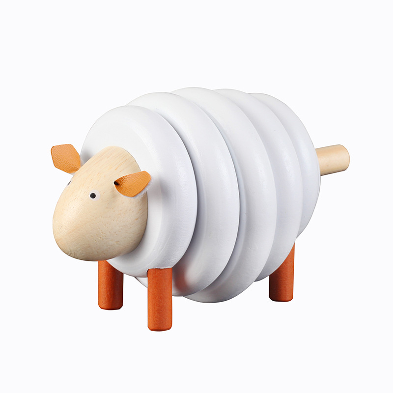 Early Teach Assembling Building Blocks Toys Color Crafts Cartoon Animal Gifts Small Sheep Beads Toys For Children