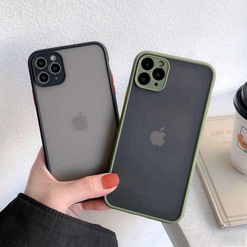 Camera Bảo Vệ Chống Sốc Ốp Lưng Ốp Lưng Điện Thoại Iphone 11 11Pro Max XR XS Max X 8 7 7 Plus 11Pro mờ Sau Trong Suốt