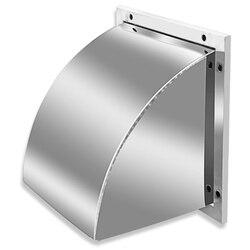 304 zewnętrzna ściana ze stali nierdzewnej osłona przeciwdeszczowa osłona przedniej szyby wentylator wyciągowy osłona wylotu powietrza kaptur wylotowy kwadratowy kaptur w Części okapu kuchennego od AGD na