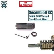 14 мм CCW резьба сталь металл Surefire SF4P Socom 556 RC Flash Hider нет функции намордник устройство для геля мяч бластер страйкбол AEG