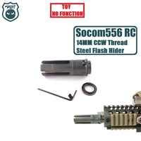 14MM CCW Gewinde Stahl Metall Surefire Socom 556 RC Flash Hider KEINE Funktion Maulkorb Gerät für Wasser Gel Ball blaster Airsoft AEG