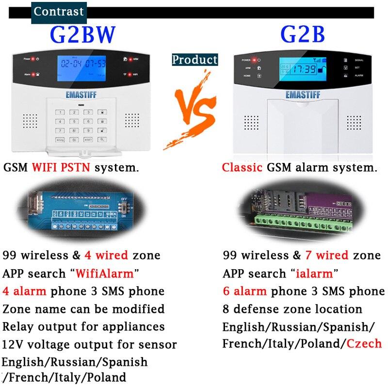 IOS Android APP Kablet trådløs hjemmesikkerhed LCD PSTN WIFI GSM - Sikkerhed og beskyttelse - Foto 5