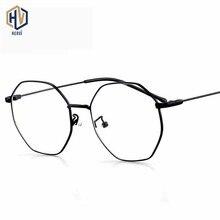 Brand Design New Polygon Prescription Glasses Frame Men Women Octagon Metal Big Spectacles Frames Optics Eyeglasses