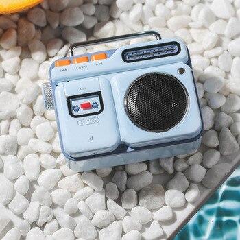 Bluetooth speaker literary mini Bluetooth small speaker retro radio portable cool speaker,I8