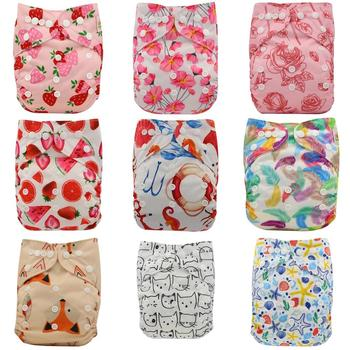 9PACK Ohbabyka Pocket Diaper Baby Washable Reusable Eco-Friendly Diapers Diaper Cover Pocket Modern Cloth Diapers Nappies