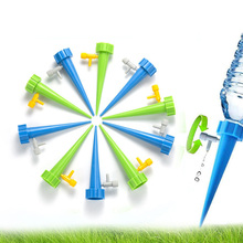 Auto Drip Irrigation Watering System Watering Spike for Plants Flower Indoor Household Waterer Bottle Drip Irrigation cheap JJ14 Other Watering Kits Indoor Plant Watering Device for Houseplant Green blue Plastic Automatic watering device lazy water seepage dripping device