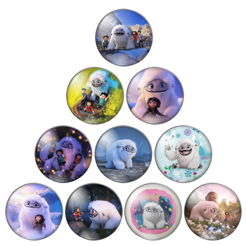 Cute snow white animal 8mm/10mm/12mm/18mm/20mm/25mm Round photo glass cabochon demo flat back Making findings ZB0543