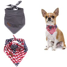 2 Pcs Unique Style Paws Christmas Dog Cat Bandana Accesseries Pet Product Gift for Bandage Collar Star