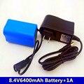 Liitokala 8 4 V 6400mAh батарея велосипедный ремень фара + зарядное устройство + бесплатная доставка