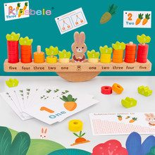 Math Toys Rabbit Balance Counting Games Early Learning Toys For Kids Toddlers Montessori Educational Toys For Children Gifts