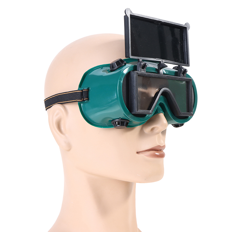 Portable Welding Goggles With Flip Up Safety Cutting Grinding Glasses