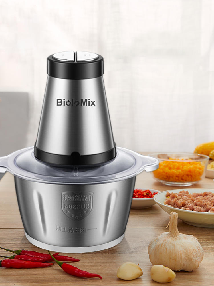 Slicer Mincer Meat-Grinder Food-Processor Electric Chopper Stainless-Steel 500W 2-Speeds