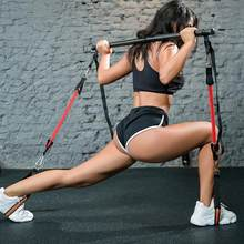 Indoor Muscle Tension Bar with Resistance Bands Rubber Tube Trainer Body Workout Fitness Equipment Home Yoga Gym Pull Rope Stick