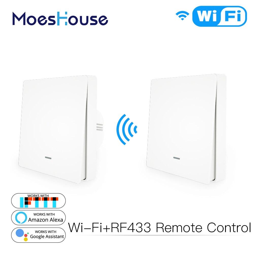 WiFi Push Button Smart Switch 1/2/3 Gang Remote Control