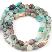 6-8mm Natural Irregular Chrysocolla stone Beads Loose Spacer Beads For Jewelry Making DIY Bracelet Necklace 15''Strand/Inches(China)