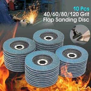 Image 1 - 10Pcs Grinding Wheels Flap Discs Sanding Discs 125mm 5 Inch 40/60/80/120 Grit Angle Grinder Abrasive Tool Wood Tools
