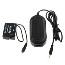 DMW AC8 AC Power Adapter + DMW DCC8 for Panasonic Lumix DMC GH2 GX8 G7 G6 G5 FZ1000 FZ300 FZ200