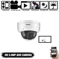 Cámara de vigilancia CCTV NIVISION H.265 5MP a prueba de vandalismo 5MP HD cámara de detección de movimiento IR corte visión nocturna cámara pequeña AHD Domo