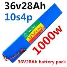 36V батарея 10S4P 28Ah 18650 аккумулятор 1000W 42V 28000mAh для электровелосипеда с BMS
