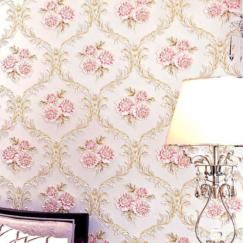 3D Non-woven Fabrics Wallpaper Flower Garden Living Room Bedroom Hotel Project Special Price Sale Wallpaper