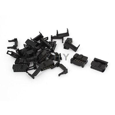 10 Sets FC-10P 2 Row 10 Pin 2.54mm Spacing IDC Female Pin Header Connector