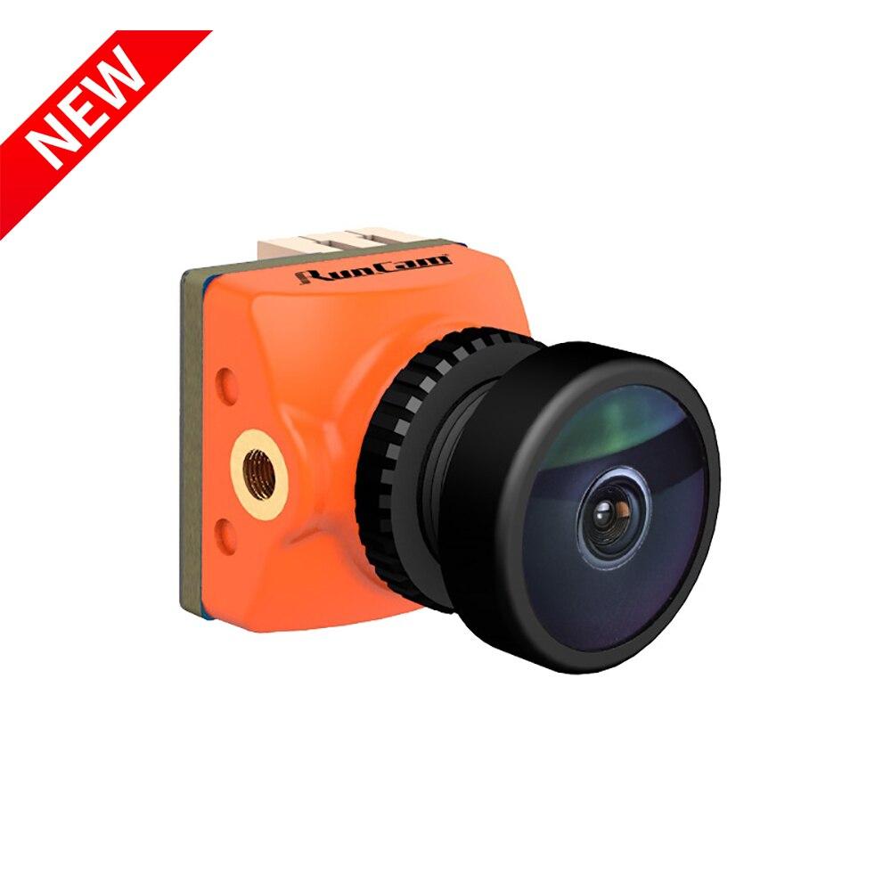 Novo runcam racer nano 2 menor câmera fpv cmos 1000tvl 1.8mm/2.1mm super wdr 6ms baixa latência integrado osd para fpv rc zangão