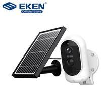 Original eken astro 1080p câmera ip com bateria do painel solar ip65 wifi à prova de intempéries detecção de movimento câmera de segurança sem fio