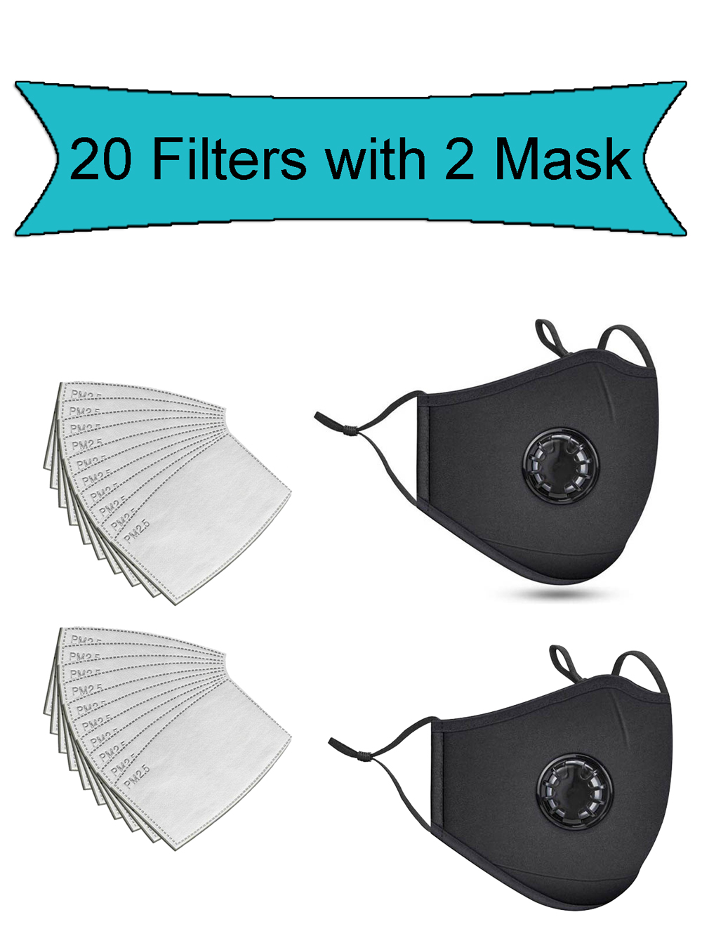 Reusable-Mask Respirator Washable Mouth Anti-Pollution-Pm2.5-Mouth 20PCS-FILTER Fashion