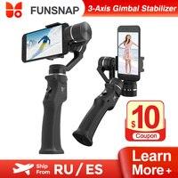 Xiaomi Youpin Funsnap stabilizzatore cardanico palmare a 3 assi Bluetooth Wireless per iPhone cellulare Gimbal Smartphone registrazione Video