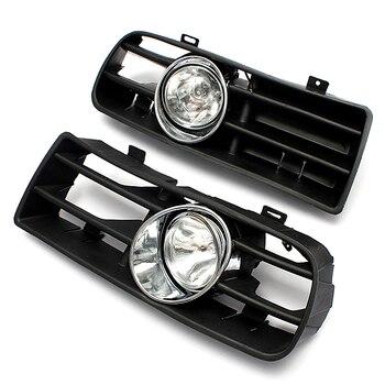 2Pcs FRONT LEFT RIGHT FOG LIGHT LAMP GRILLE GRILL SET for VW GOLF MK4 IV 1998-2005
