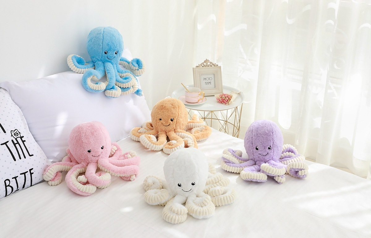 Cute Octopus Plush Pillow Toy