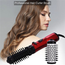 2 in 1 Automatic Rotating Hair Dryer Hot Air Styler Comb Curling Iron Roll Large Waver Volumizer Hair Straightener Styling Brush