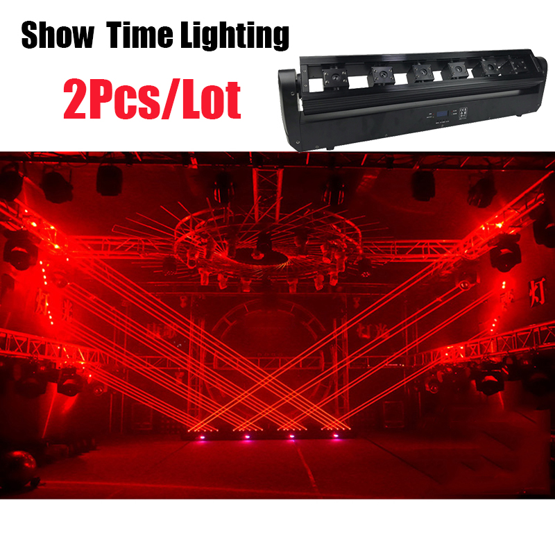 2Pcs/Lot Disco Laser Moving Head Light 6 Eyes Red Green Blue Dj Laser Show Party Laser For Disco Home Entertainment Party