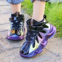 ULKNN enfants hiver plus velours baskets garçons aider coton rembourré chaussures 2020 nouvelles filles mode décontracté sauvage étudiant chaussures