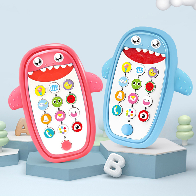Baby Toys 0 6 12 Months Shark Music Mobile Phone Toys For Babys Toddlers Electric Numbers Educational Baby Boy Toys
