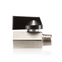 Brass Ball Valve 1/4 3/8 NPT Female x Male Threaded Mini Shut-Off Standard Connection