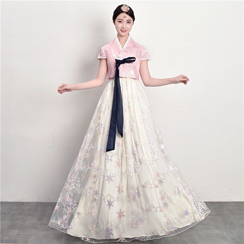 Hanbok Korean National Stage Outfit Minority Costume Elegant Women Palace Wedding Hanbok Dress Oriantal Clothing Party Dress