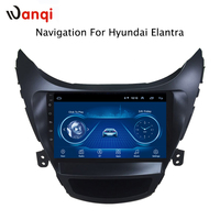 9 inch wanqi 8.1 car dvd gps navigation For Hyundai Elantra 2011 2014 Korea Version multimedia system