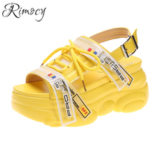 Rimocy Summer Women's Chunky Platform Sandals 2020 Fashion Thick Bottom Wedges
