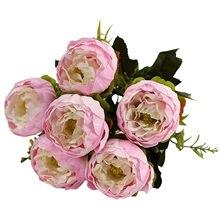 Artificial & secado flor 6 cabeças de peônia ocidental flor dia das mães decoração simulação flor casa decoração flor flor flor flor flor falsa 2021