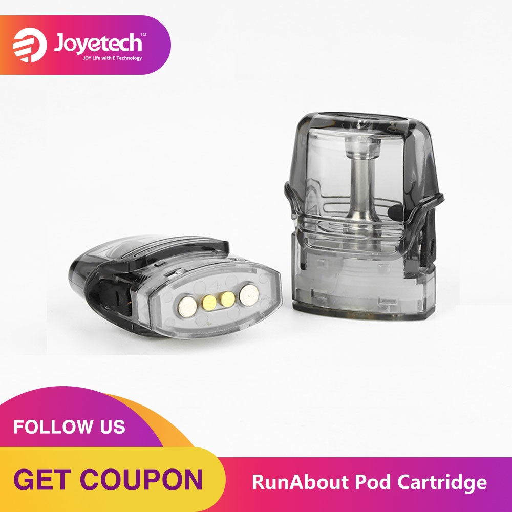 100% Original Joyetech RunAbout Pod Cartridge 2ml Capacity 5pcs/pack With Side Filling System & 1.2ohm Built-in Coil FOR Vaping