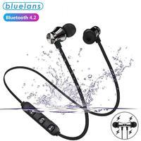 XT11-Auriculares deportivos inalámbricos con Bluetooth, dispositivo de audio estéreo magnético, a prueba de agua, con micrófono, para IPhone y Samsung, novedad