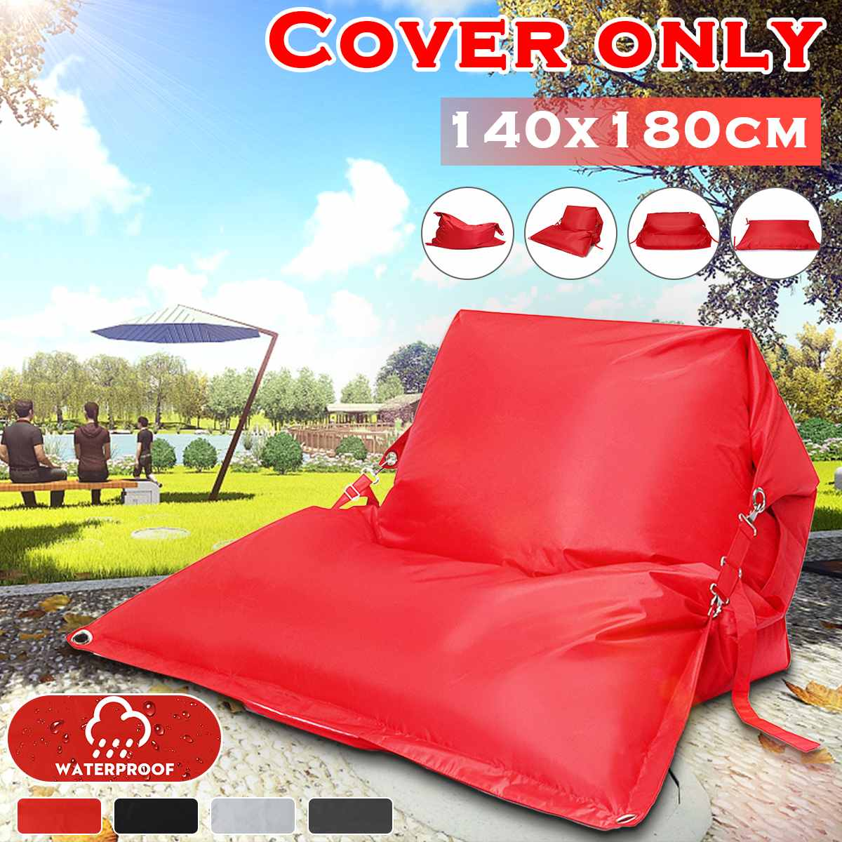 BeanBag Sofas Cover Chairs NO Filler 420D Waterproof Oxford Fabric Lounger Seat Bean Bag Puff Couch Tatami Home Outdoor Camping