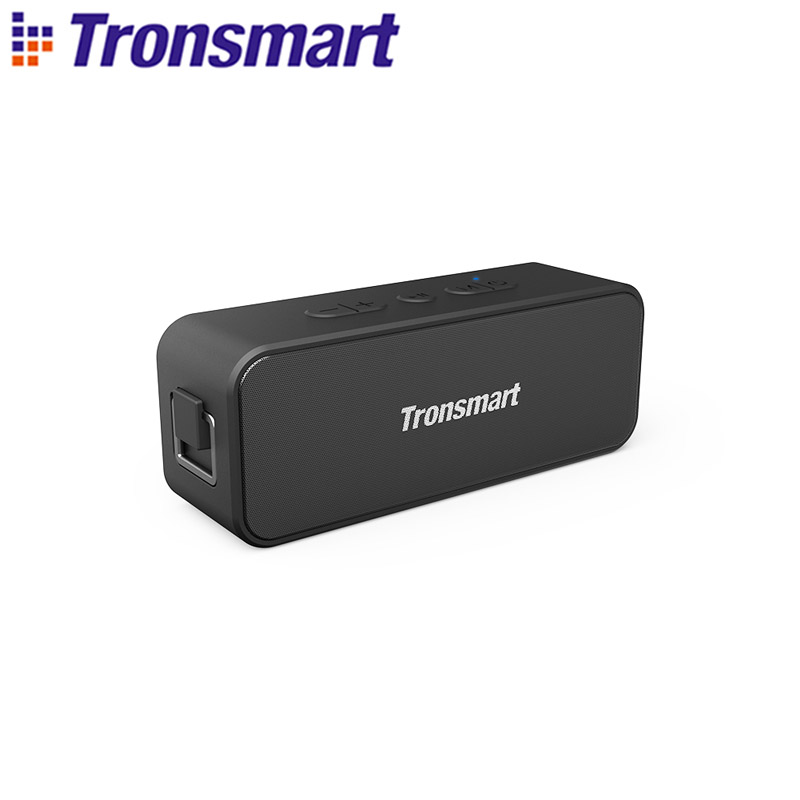 Tronsmart T2 Plus Bluetooth 5.0 Speaker 20W Portable Speaker 24H Column IPX7 Soundbar with TWS,Voice Assistant,Micro SD
