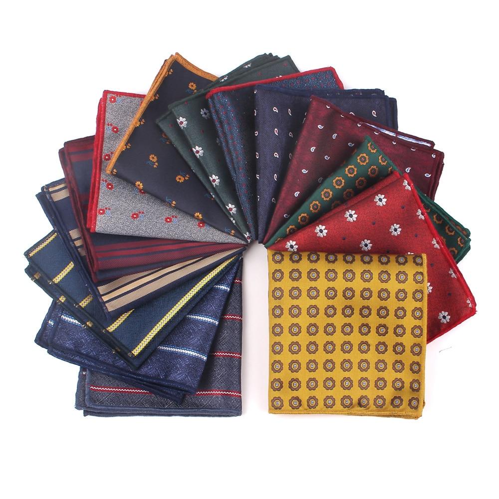 Fashion Striped Pocket Square For Men Women Chest Towel Hanky Polyester Hankies Men's Suits Handkerchief  Floral Pocket Towel