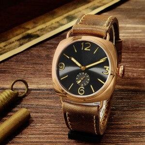 Image 2 - סן מרטין ברונזה שעונים עסקים מקרית פשוט גברים של קוורץ שעון Holvin עור רצועת Relojes זוהר 200m מים עמיד