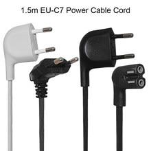 2 Pin зубцами кабель стандарта ЕС шнур питания с прямым углом в соответствии со стандартом IEC C7 Рисунок 8 силовой кабель для Samsung Power Supply Телевиз...