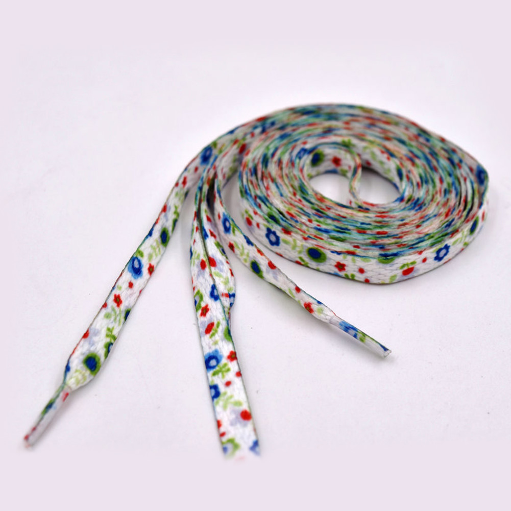 1 Pair New Small Fresh Printing Series Shoelaces Polyester Shoe Laces Pattern Sports Casual Laces Sneaker Boots Shoe Strings